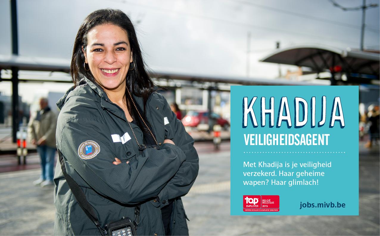 Khadija, veiligheidsagent