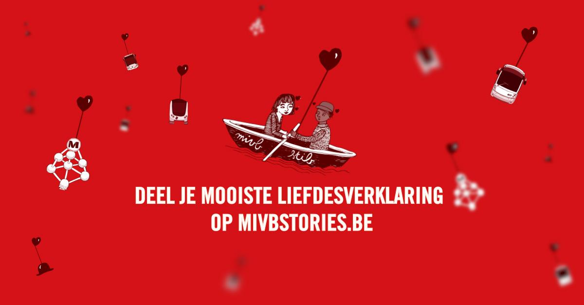 Verras je vlam op valentijn met een liefdesverklaring op het MIVB-net!