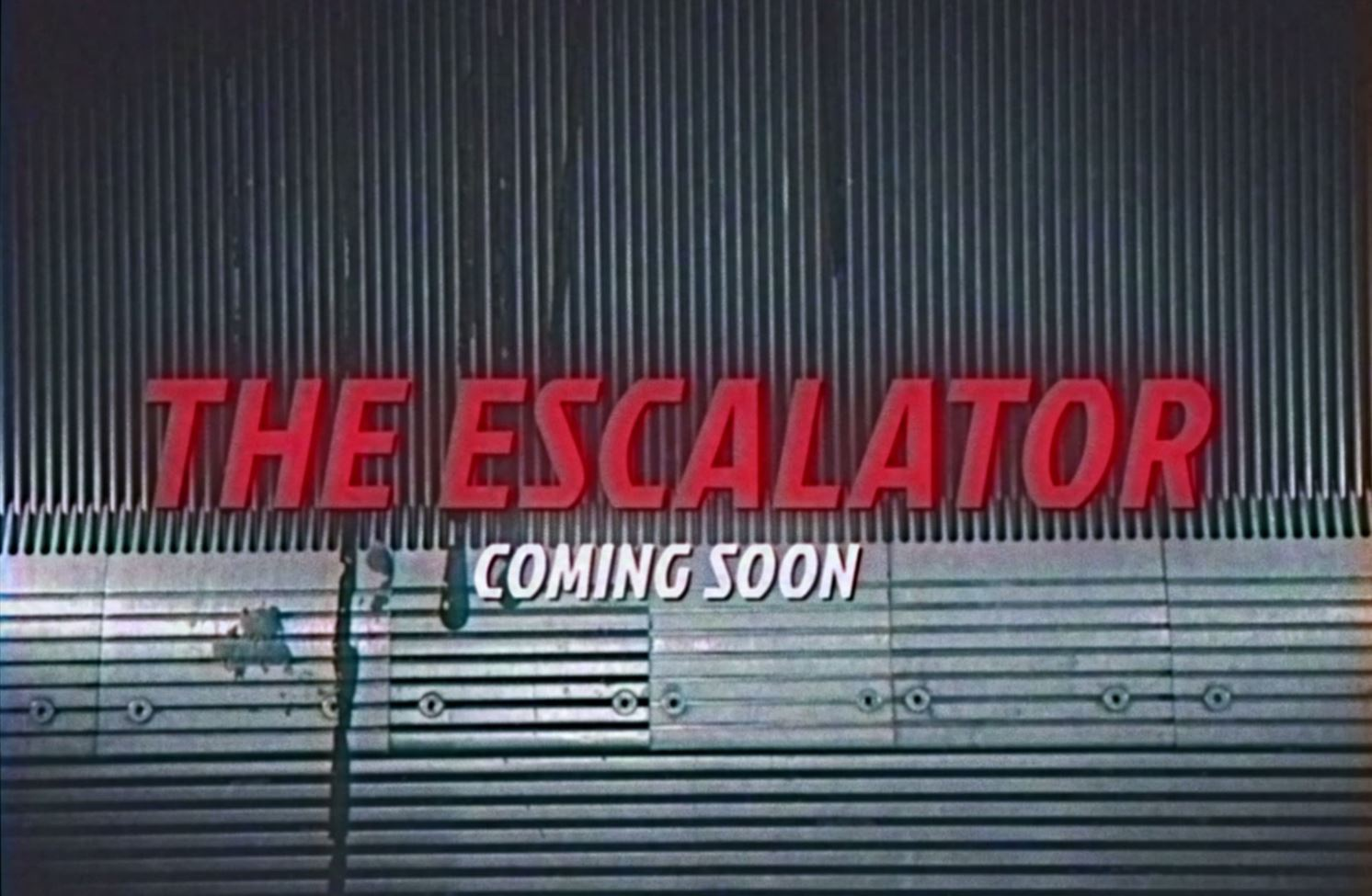 The Escalator: speel geen hoofdrol