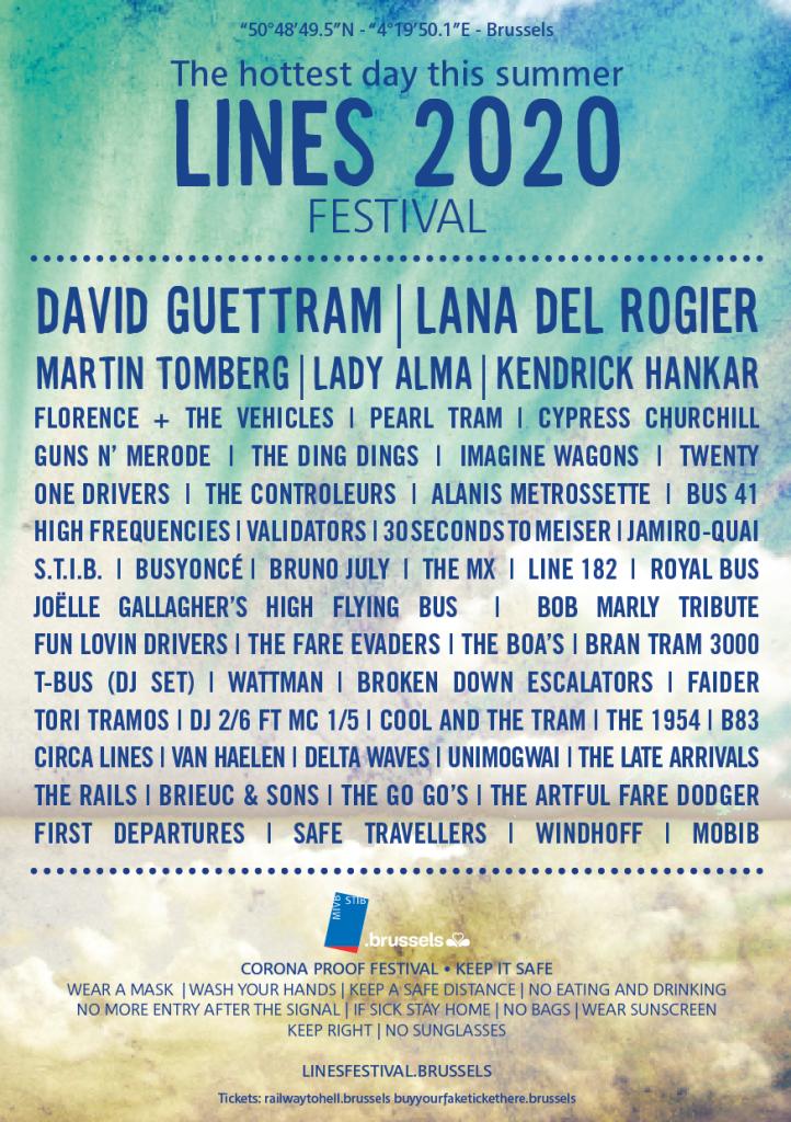 affiche van een fake cornoaproof zomerfestival van de MIVB