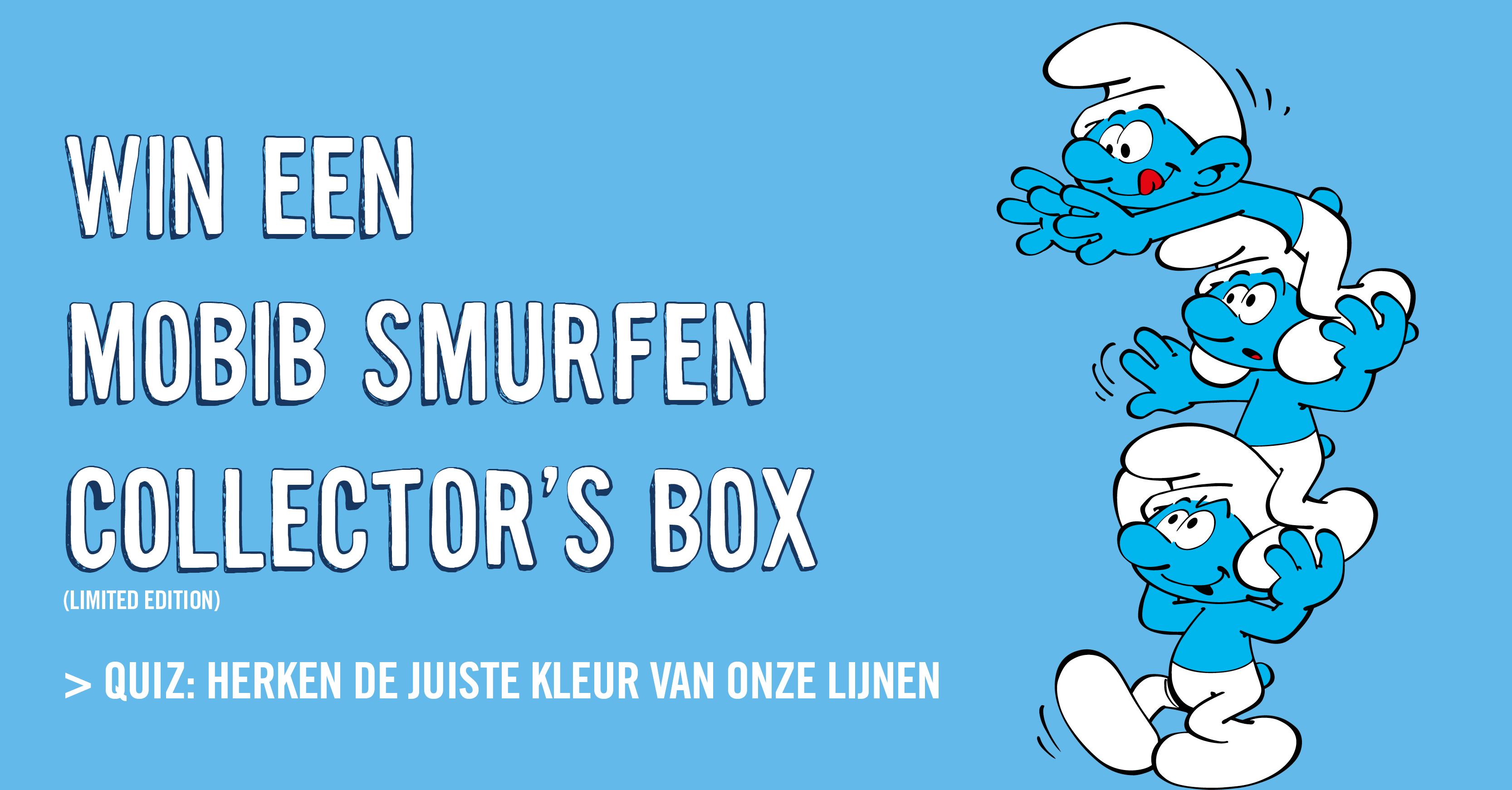 Wedstrijd: win je MOBIB-collector's box smurfen!